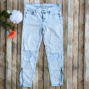 Abercrombie & Fitch acid wash distressed jeans